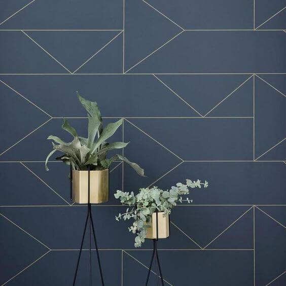 Dark blue angled tiles - trend