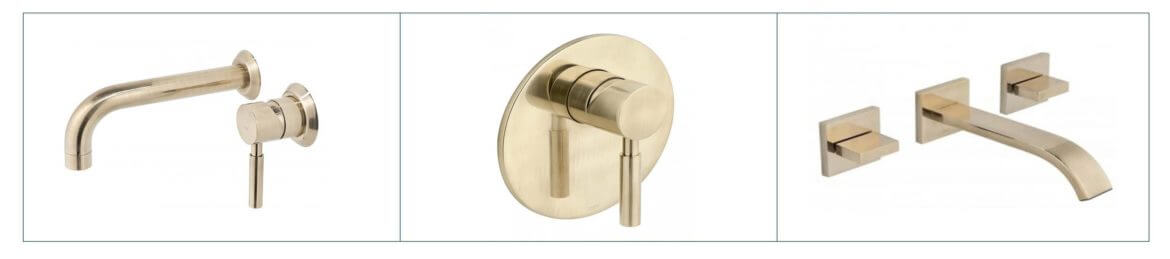 Vado brushed gold taps and mixers