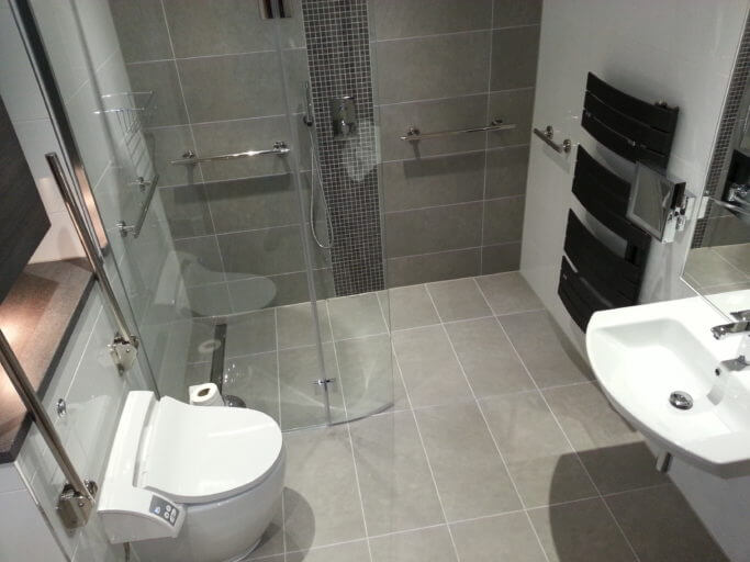 Disabled access bathroom & luxury wetroom in Oxshott