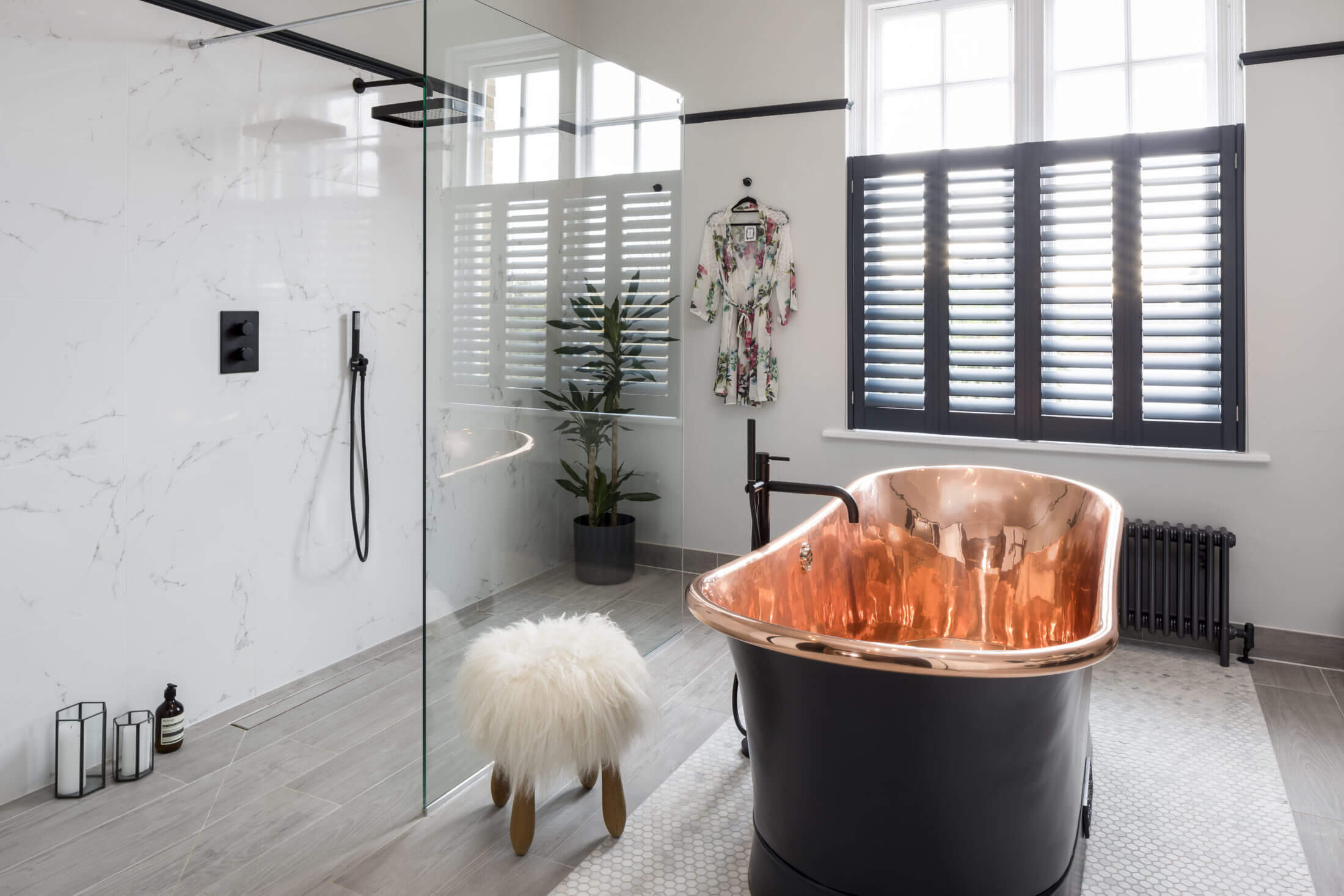 Bathroom Eleven - Copper and Black Bathroom Ensuite in Surbiton