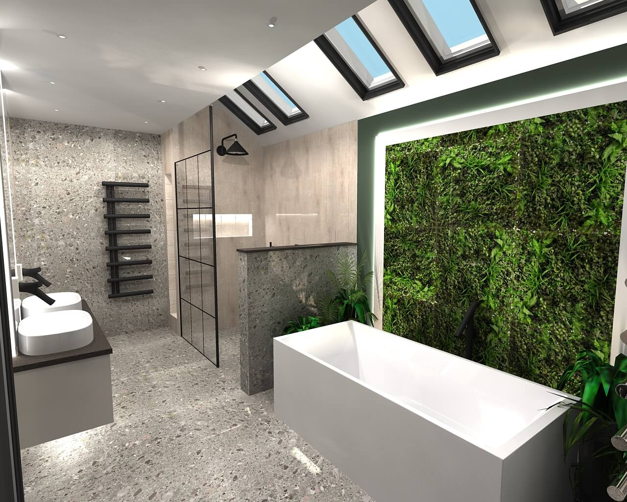 3D design for a bathroom in Esher