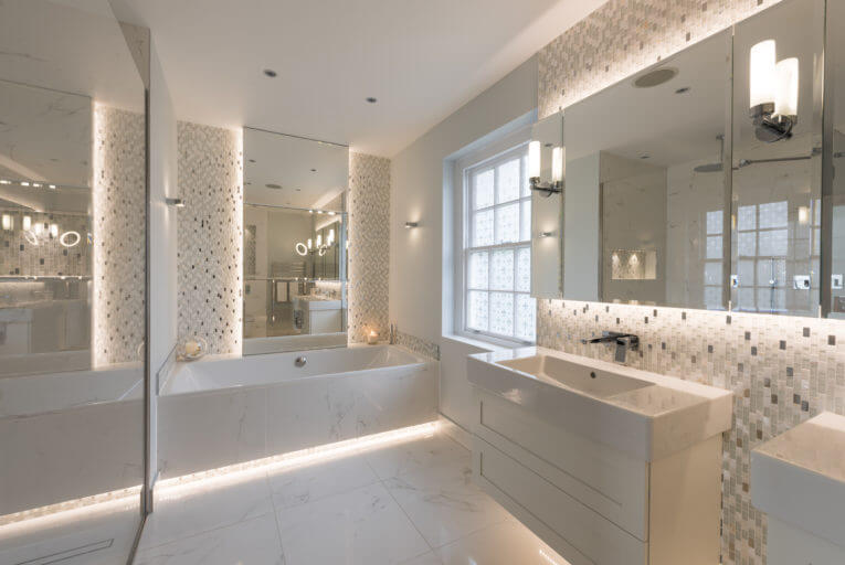 Luxury Bathroom in Esher Designed and installed by Bathroom Eleven