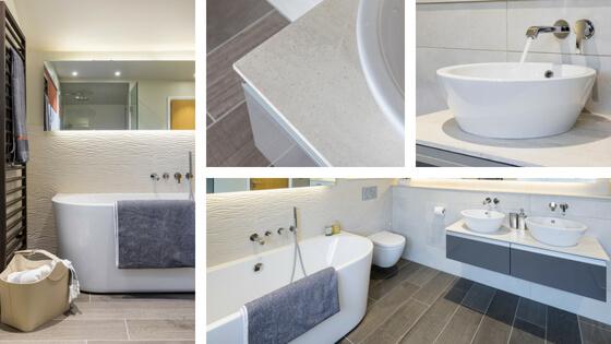 Contemporary Master Bathroom Timeless Colour Scheme Thames Ditton