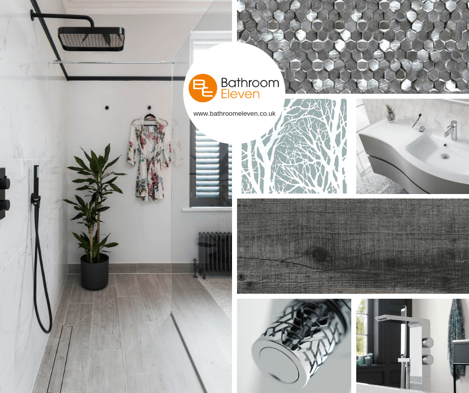 Moodboards for bathroom project Esher