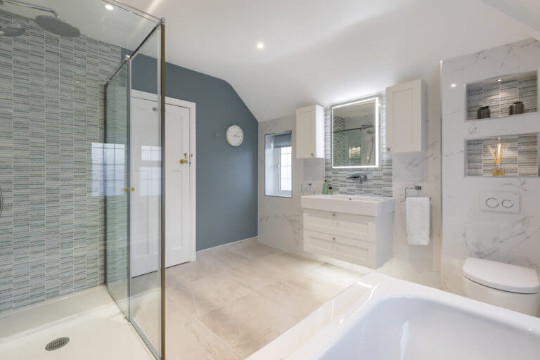 Family Bathroom - Cool and Classic