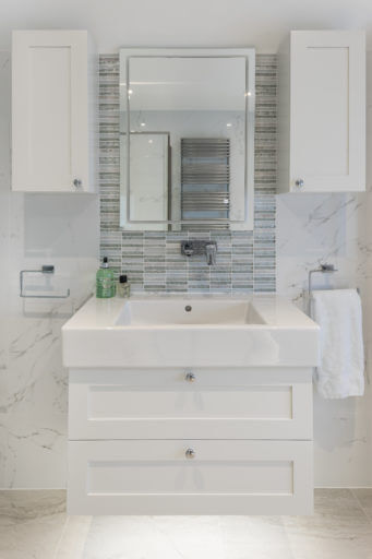 Cool and classic Basin unit in project by Bathroom Eleven
