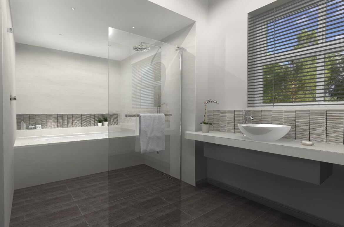 Bathroom eleven - 3D bathroom design - Long Ditton