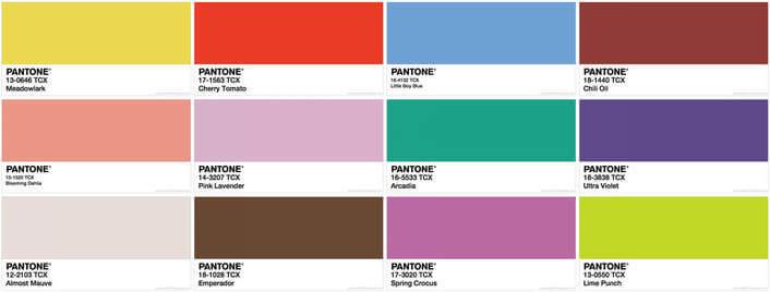 Pantone Colour Chart