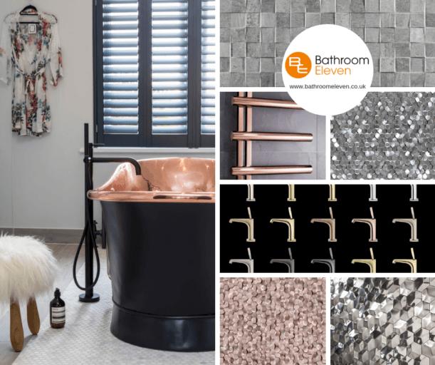Bathroom Eleven - moodboard for Copper and Metallics