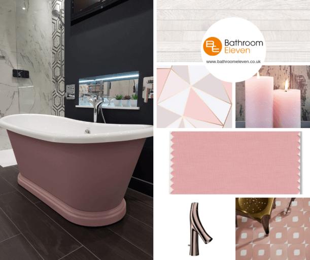 Bathroom Eleven - Blush pink moodboard