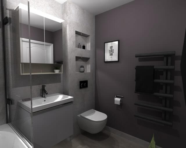 Small Bathroom 3D drawing for blog