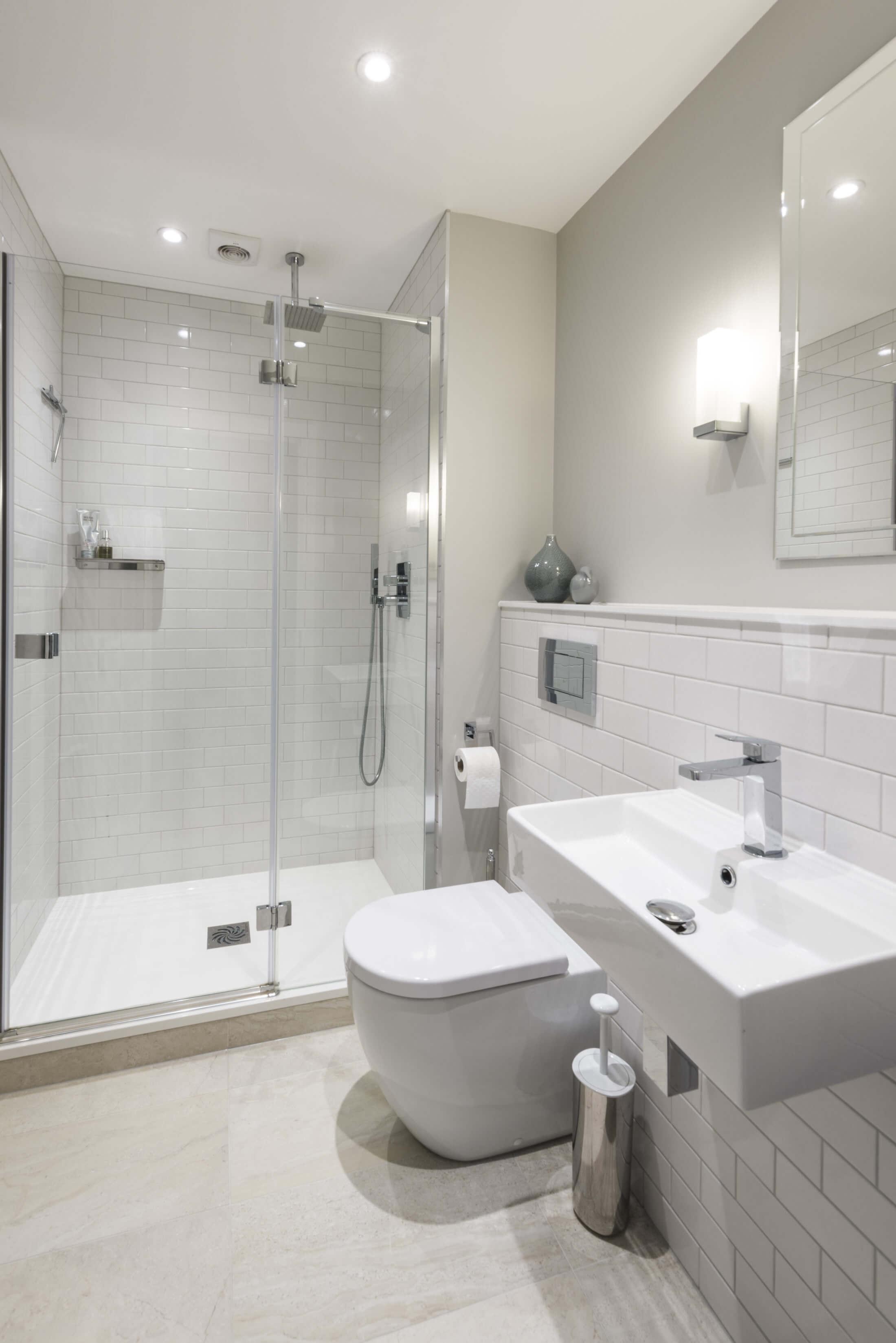 Elegant Metro En Suite In Long Ditton Bathroom Eleven