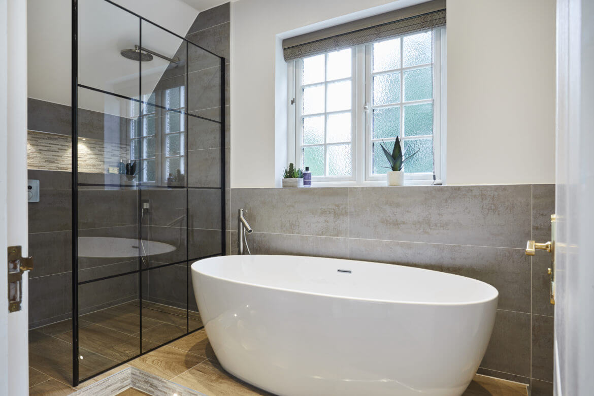Spacious Wetroom With Bath In Thames Ditton Bathroom Eleven