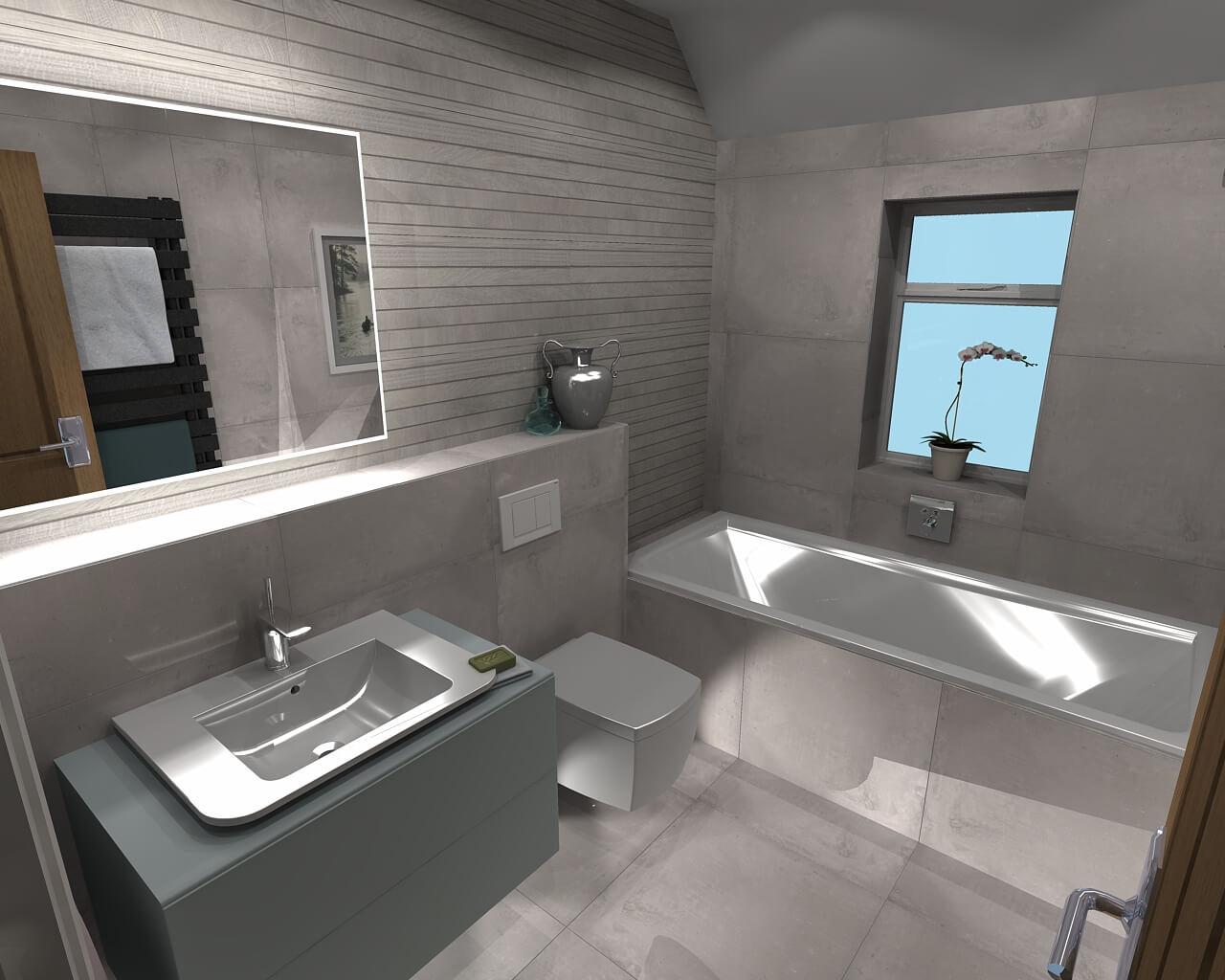 warm and sleek family bathroom in claygate  bathroom designer