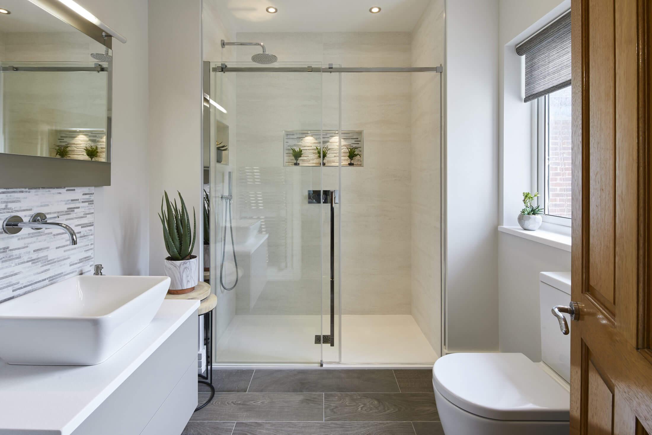 Elegant Master Ensuite Shower Room In Kingston Bathroom