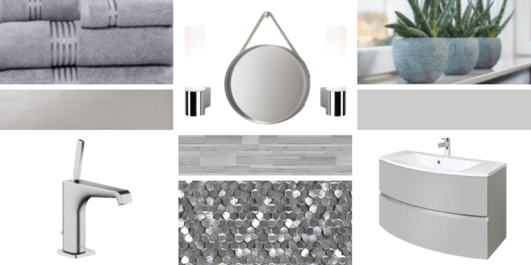 Moodboard in cool grey