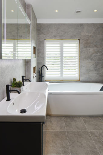 Master Ensuite - Esher bath and double basin