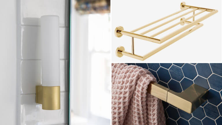 Bathroom Eleven - Gold Accessories
