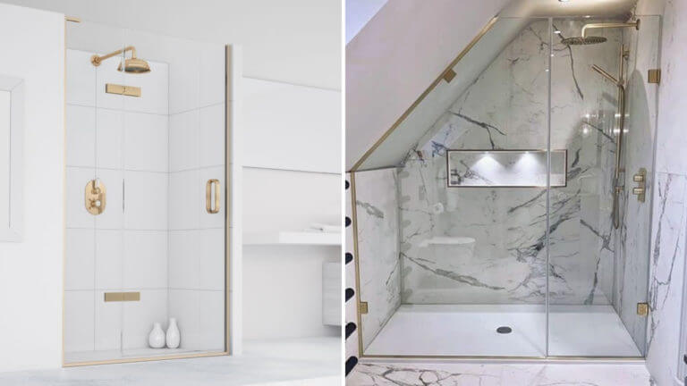 Bathroom Eleven - Gold Shower accents