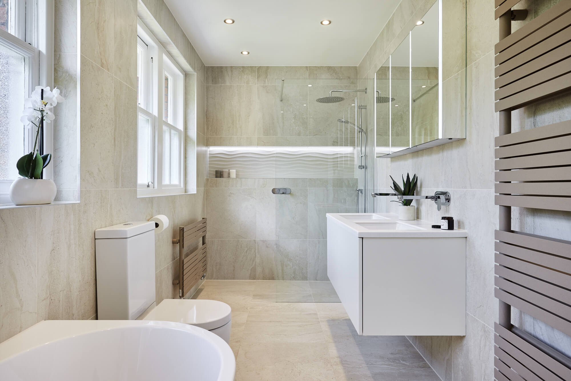 wetroom with separate bath