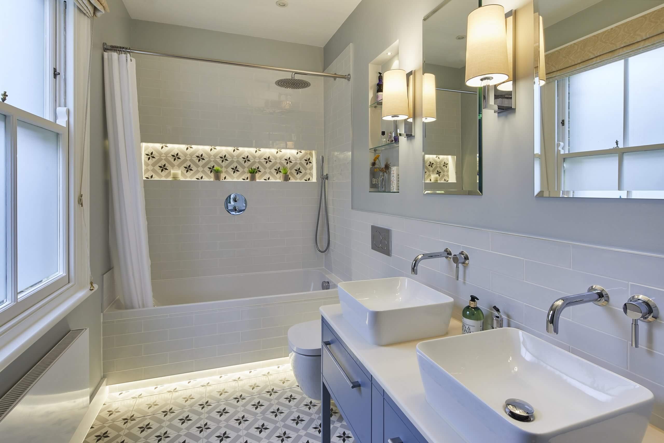 Bathroom Eleven - Patterned tiles tiles
