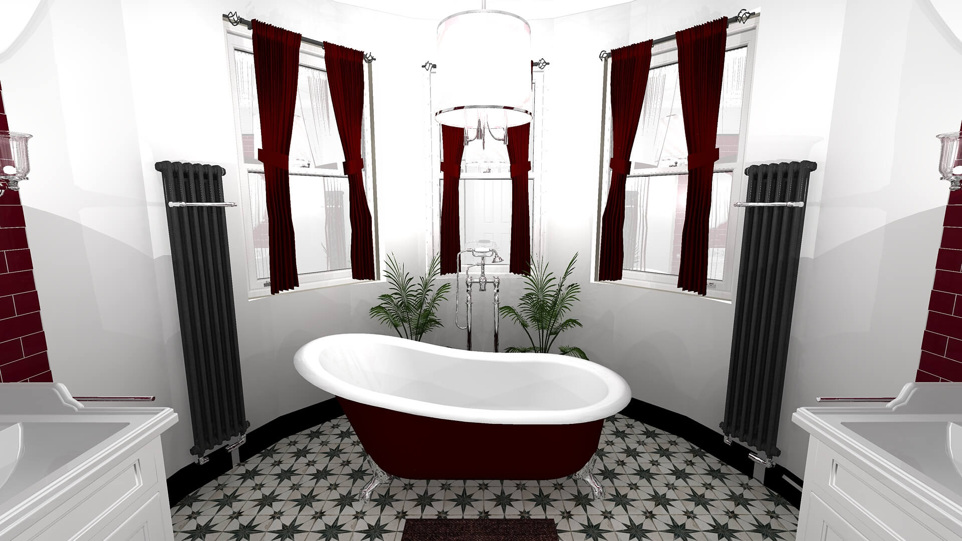Bathroom Eleven - 3D drawing of Master ensuite in Surbiton
